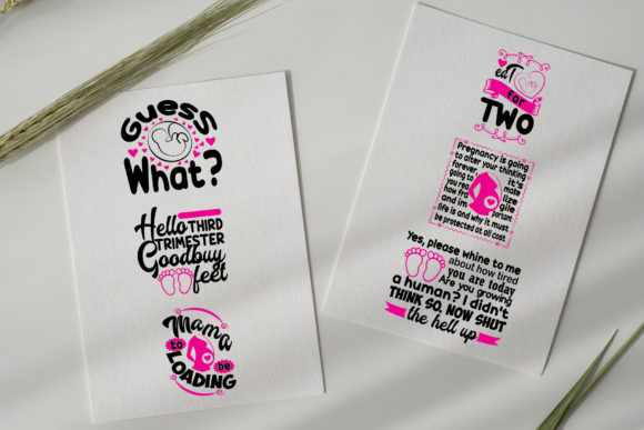Download Free 20 Pregnant Quotes Graphic By Tosca Digital Creative Fabrica for Cricut Explore, Silhouette and other cutting machines.