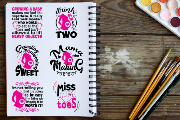 Download Free 20 Pregnant Quotes Graphic By Tosca Digital Creative Fabrica SVG Cut Files