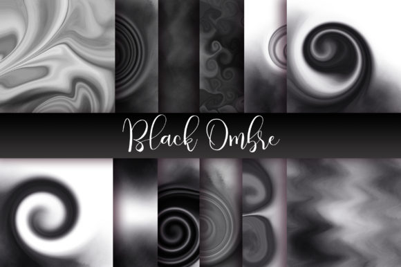 Download Free Black Ombre Watercolor Background Graphic By Pinkpearly for Cricut Explore, Silhouette and other cutting machines.