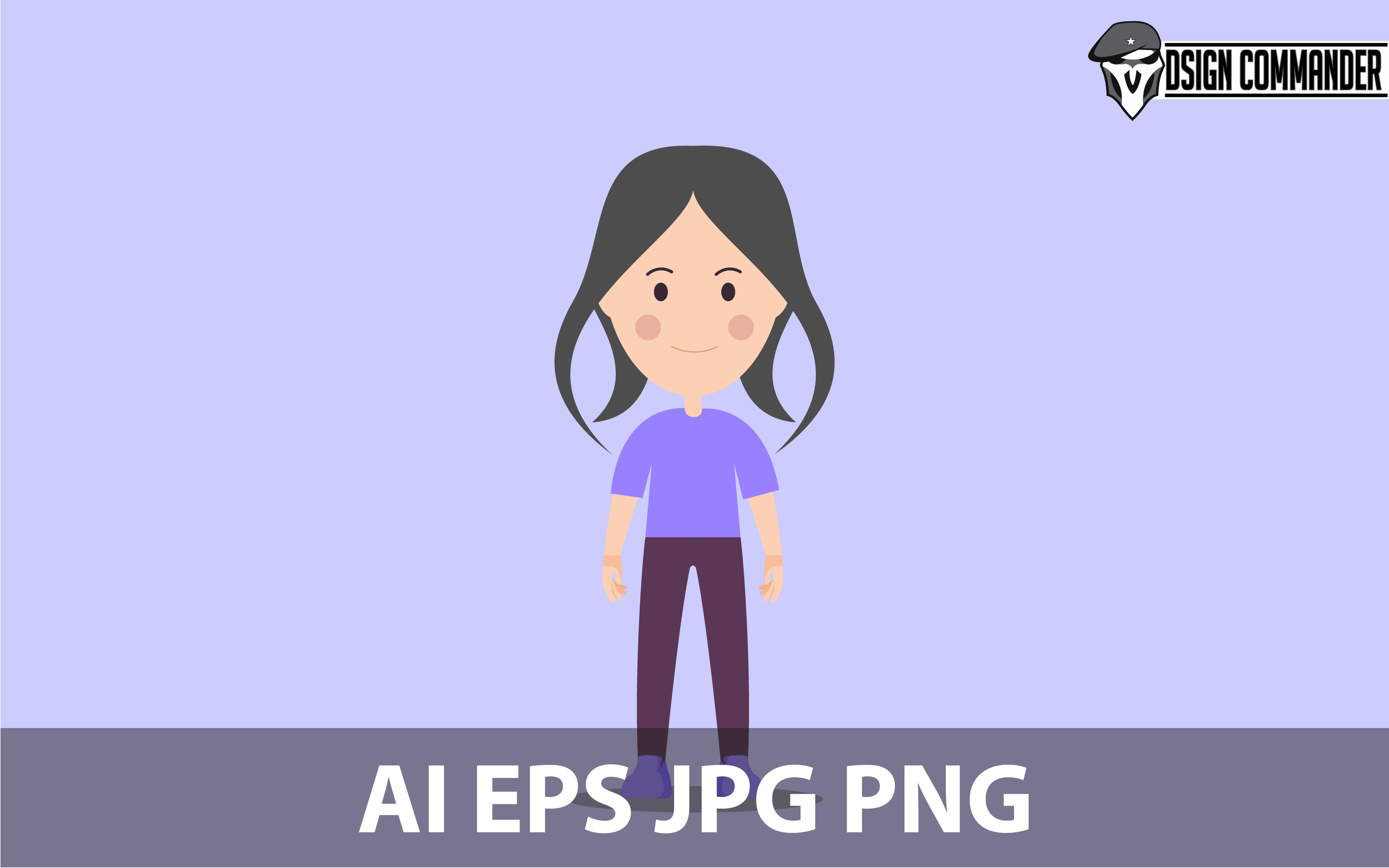 Download Free Chibi Character Design Vector Grafico Por Designcommander62 for Cricut Explore, Silhouette and other cutting machines.