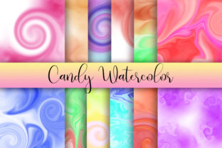 Candy Watercolor Background Graphic Backgrounds By PinkPearly