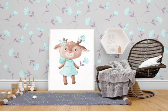 Print on Demand: Cute Deer and Friends Graphic Illustrations By nicjulia - Image 15