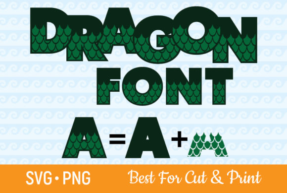Dragon Font Scale Letters Numbers Graphic Crafts By OlimpDesign