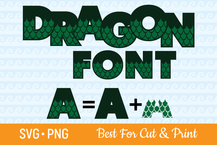 Download Free Dragon Font Scale Letters Numbers Graphic By Olimpdesign for Cricut Explore, Silhouette and other cutting machines.