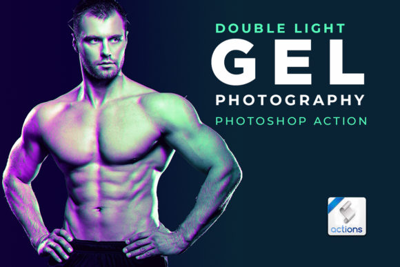 Print on Demand: Dual Lighting Gel Photoshop Action Graphic Actions & Presets By pixelhivepro