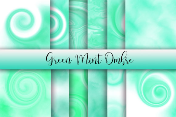 Green Mint Ombre Watercolor Background Graphic Backgrounds By PinkPearly
