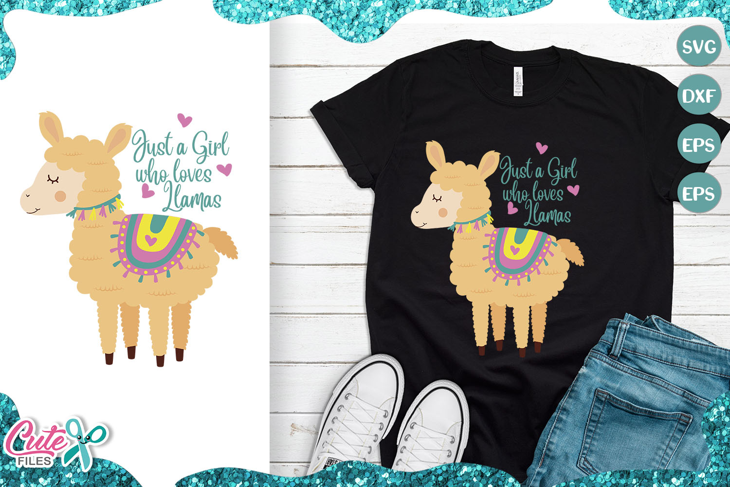 Download Free Just A Girl Who Loves Llamas Graphic By Cute Files Creative for Cricut Explore, Silhouette and other cutting machines.