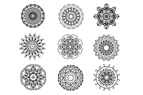 Download Free Mandala Bundle Graphic By Studioluckee Creative Fabrica for Cricut Explore, Silhouette and other cutting machines.