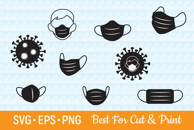Download Free Medical Facemask Virus Graphic By Olimpdesign Creative Fabrica for Cricut Explore, Silhouette and other cutting machines.