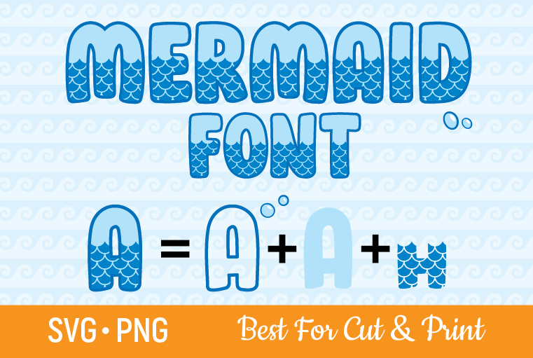 Download Free Mermaid Font Scale Alphabet Letters Graphic By Olimpdesign for Cricut Explore, Silhouette and other cutting machines.