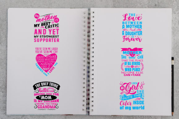 Download Free Mother Quotes Graphic By Tosca Digital Creative Fabrica for Cricut Explore, Silhouette and other cutting machines.