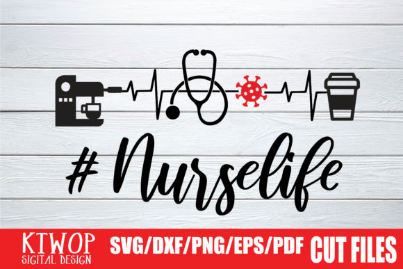 Download Free Nurselige Coffee Stethoscope Pulse 2020 Graphic By Ktwop for Cricut Explore, Silhouette and other cutting machines.