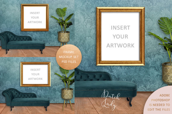 Print on Demand: Art Frame Mockup Set #3 Graphic Product Mockups By daphnepopuliers
