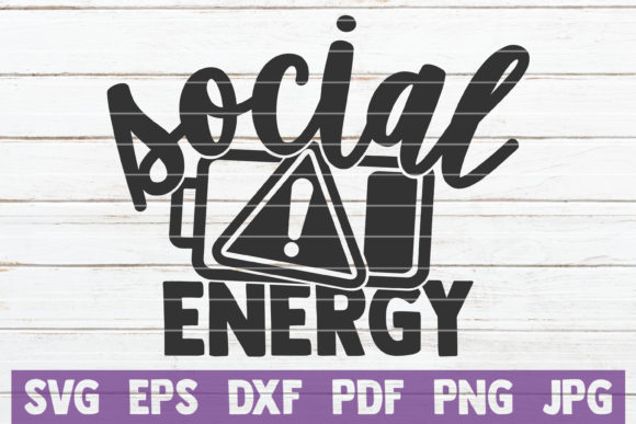 Download Free Social Energy Graphic By Mintymarshmallows Creative Fabrica for Cricut Explore, Silhouette and other cutting machines.