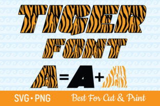 Download Free Tiger Font Alphabet Zoo Numbers Graphic By Olimpdesign for Cricut Explore, Silhouette and other cutting machines.
