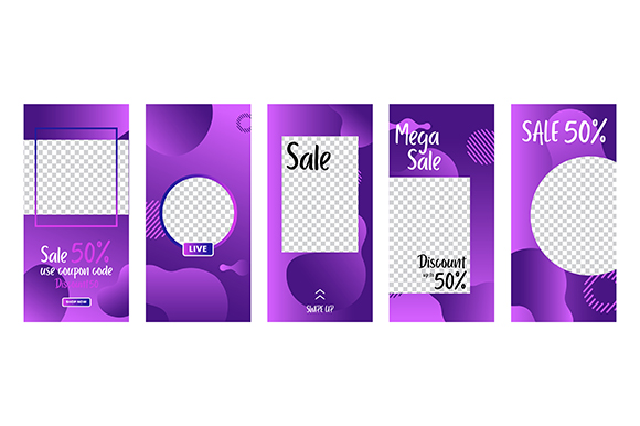 Download Free Set Of Social Media Stories Template Graphic By Apple Creative SVG Cut Files