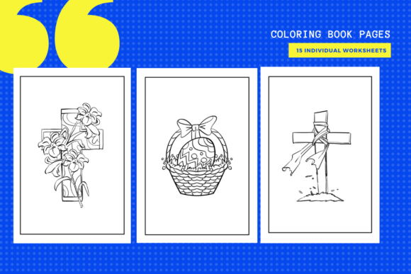 Print on Demand: 15 Easter Coloring Pages Graphic Coloring Pages & Books Kids By MarinovaDesigns