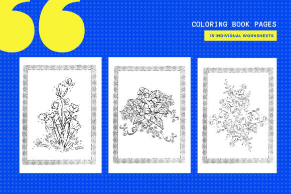 Print on Demand: 15 Flower Pattern Colouring Pages Graphic Coloring Pages & Books Adults By yumbeehomeschool