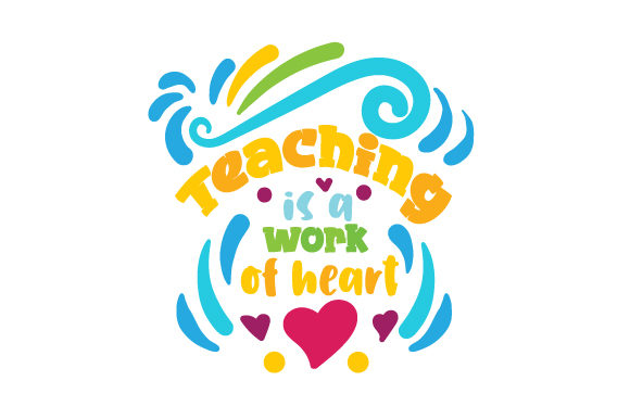 Download Free Teaching Is A Work Of Heart Svg Cut File By Creative Fabrica for Cricut Explore, Silhouette and other cutting machines.