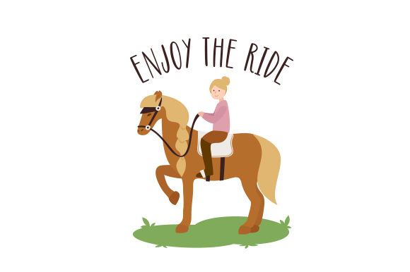 Enjoy the Ride Cowgirl Plotterdatei von Creative Fabrica Crafts