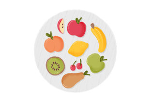 Fruits Essen & Trinken Plotterdatei von Creative Fabrica Crafts