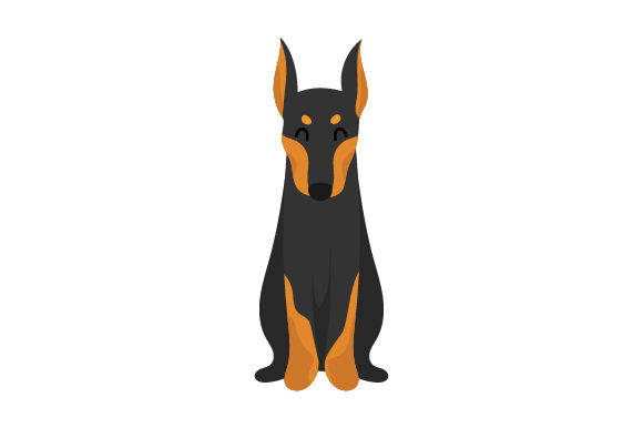 Doberman Dogs Craft Cut File By Creative Fabrica Crafts