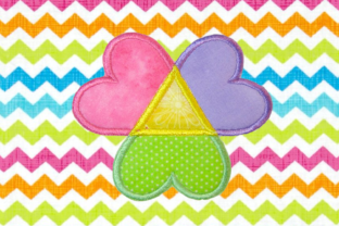 Adoption Triangle Hearts Applique Adoption Embroidery Design By DesignedByGeeks 3