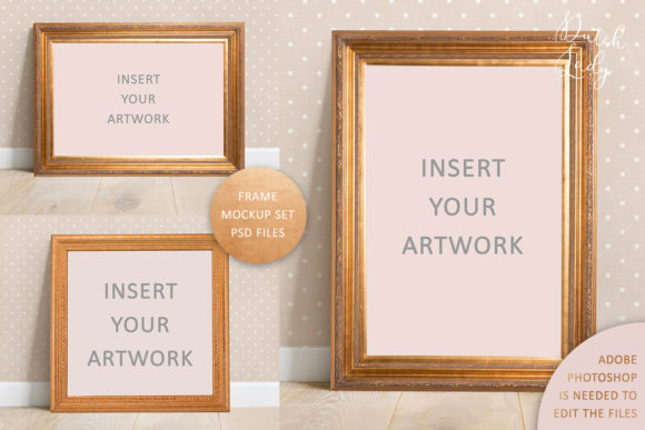 Print on Demand: Art Frame Mockup Set #2 Graphic Product Mockups By daphnepopuliers
