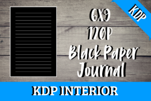 Print on Demand: Black Paper Journal | KDP Interior Graphic KDP Interiors By KDP Mastermind