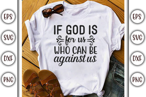 Download Free Christian Jesus Design If God Is Graphic By Graphicsbooth SVG Cut Files