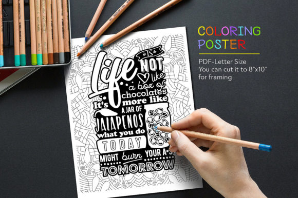 Coloring Quote Graphic