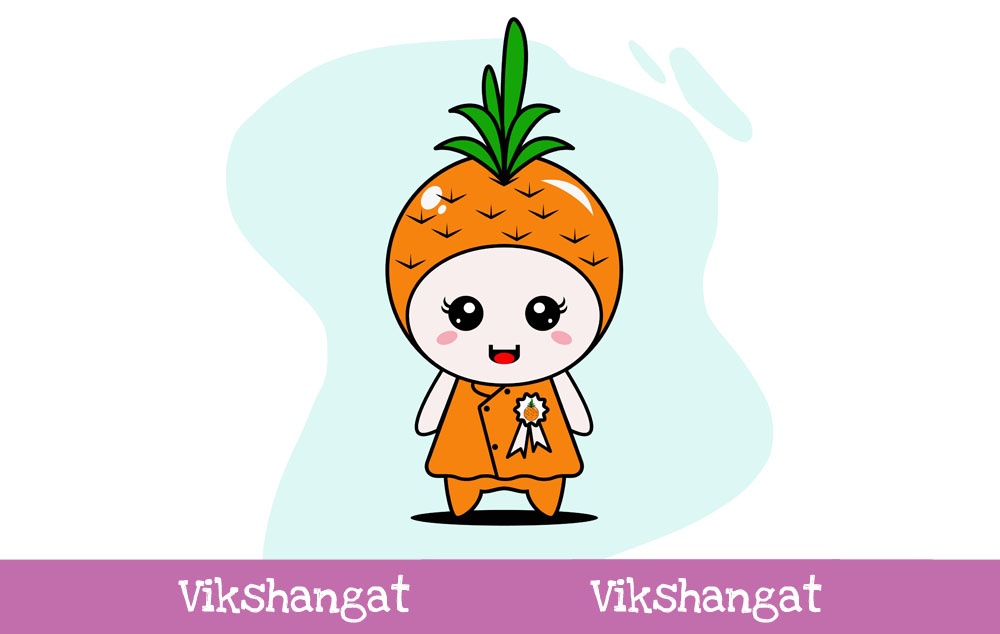 Download Free Cute Pineapple Character Vector Mascot Graphic By Vikshangat SVG Cut Files