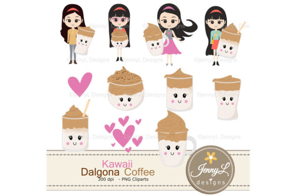Download Free Dalgona Coffee Digital Papers Clipart Grafik Von for Cricut Explore, Silhouette and other cutting machines.