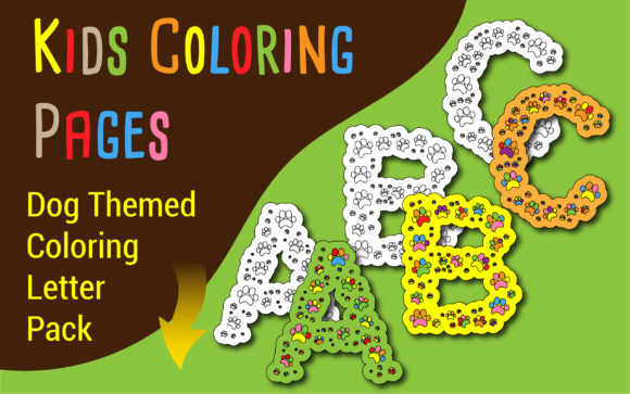 Print on Demand: Dog Themed Coloring Letter Pack for Kids Graphic Coloring Pages & Books Kids By Neat Publishing