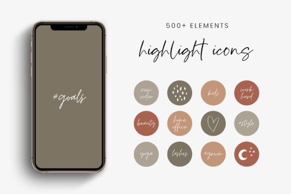 Earth Colors IG Story Highlight Icons Graphic Icons By StylishDesign