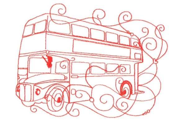 Enchanted London Europe Embroidery Design By Sue O'Very Designs