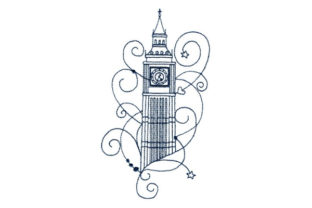 Enchanted London Europe Embroidery Design By Sookie Sews