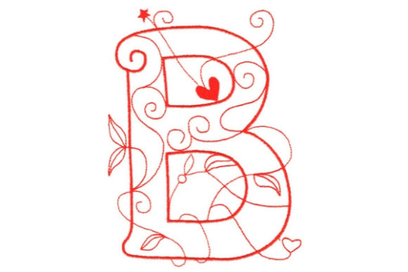 Download Free Enchanted Monogram B Creative Fabrica for Cricut Explore, Silhouette and other cutting machines.