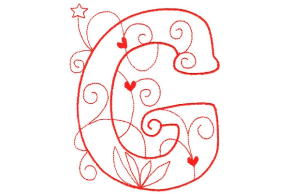 Enchanted Monogram G Wedding Monogram Embroidery Design By Sue O'Very Designs