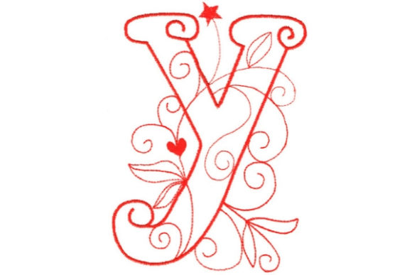 Enchanted Monogram Y Wedding Monogram Embroidery Design By Sue O'Very Designs