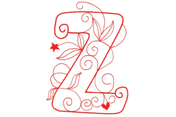 Enchanted Monogram Z Wedding Monogram Embroidery Design By Sue O'Very Designs