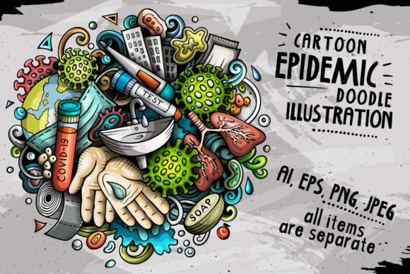 Epidemic Cartoon Illustration Graphic Illustrations By BalabOlka