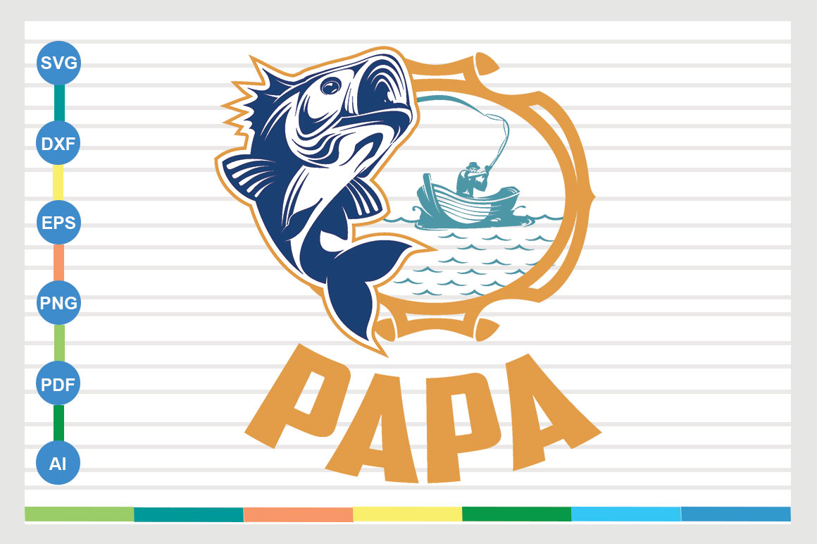 Download Free Fishing Design Graphic By Sajidmajid441 Creative Fabrica for Cricut Explore, Silhouette and other cutting machines.