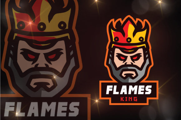 Download Free Flames King Logo Esport Graphic By Remarena Creative Fabrica for Cricut Explore, Silhouette and other cutting machines.