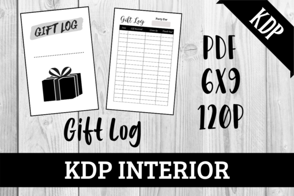 Print on Demand: Gift Log | KDP Interior Graphic KDP Interiors By Hungry Puppy Studio