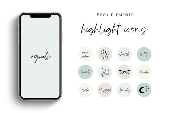 Download Free Green Tones Ig Story Highlight Icons Graphic By Stylishdesign for Cricut Explore, Silhouette and other cutting machines.