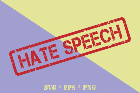 Download Free Hate Speech Transparent Rubber Stamp Grafik Von Graphicsfarm for Cricut Explore, Silhouette and other cutting machines.