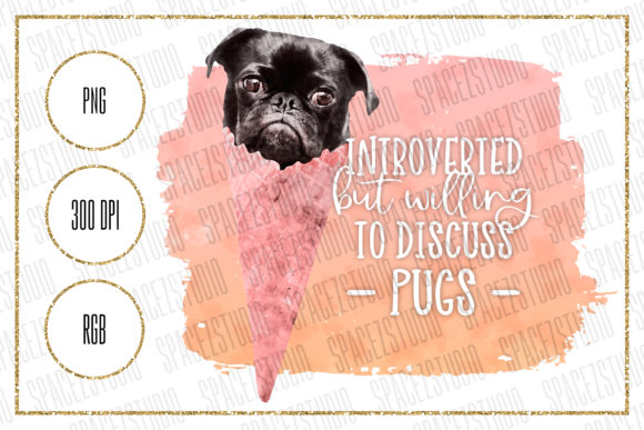 Download Free Ice Cream Pug Sublimation Design Graphic By Sabina Leja for Cricut Explore, Silhouette and other cutting machines.