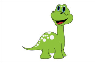 Download Free Illustration Of Cute Green Dinosaurs Graphic By Curutdesign for Cricut Explore, Silhouette and other cutting machines.