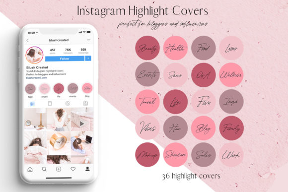 Download Free Sparkle Instagram Stickers Graphic By Blush Created Creative for Cricut Explore, Silhouette and other cutting machines.
